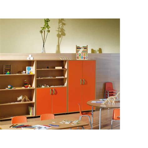 storage cupboard with 3 shelves for school school furniture