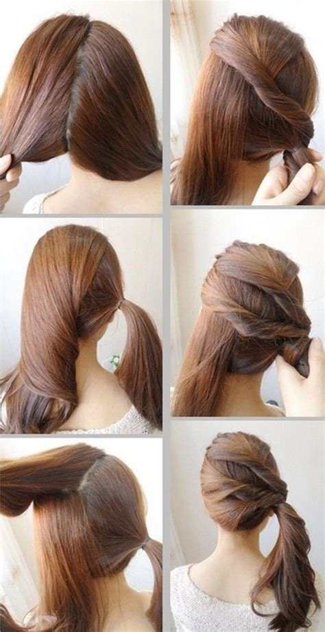 easy hairstyles for very short hair step by step cute and easy hairstyles for school step by step google