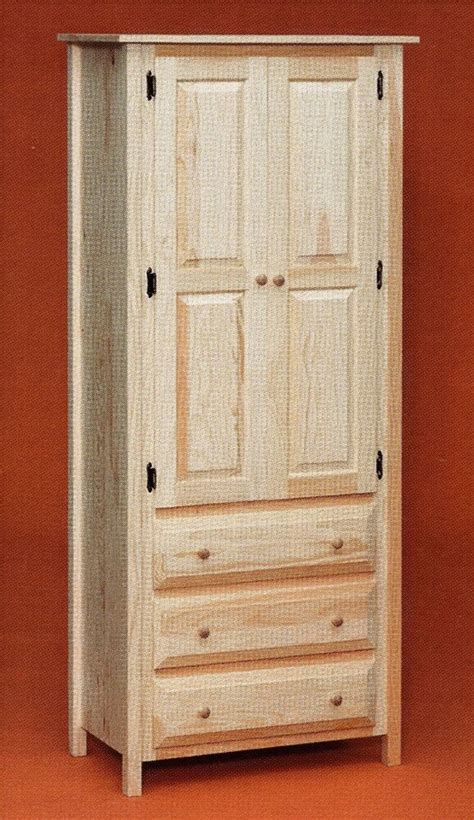 amish rustic pine unfinished storage drawer linen