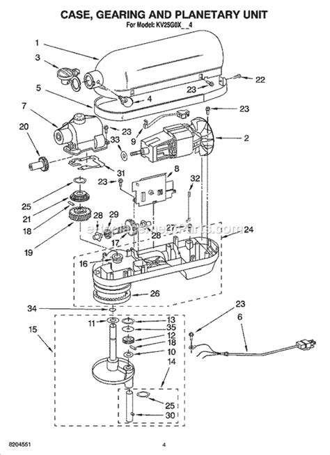 Kitchenaid K45ss Parts Diagram