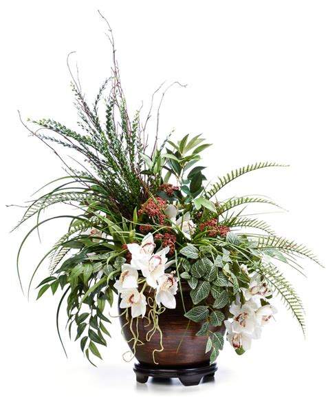 artificial floral arrangements buy atrium orchid planter artificial floral arrangement at petals