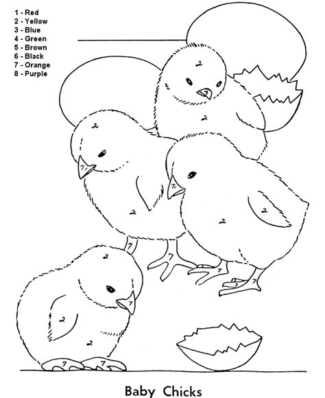 color by number coloring pages easy color by numbers coloring pages for kids coloring home