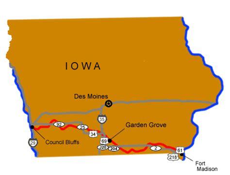 Garden Grove Iowa Map Garden Grove Mormon Pioneer National Historic Trail U S