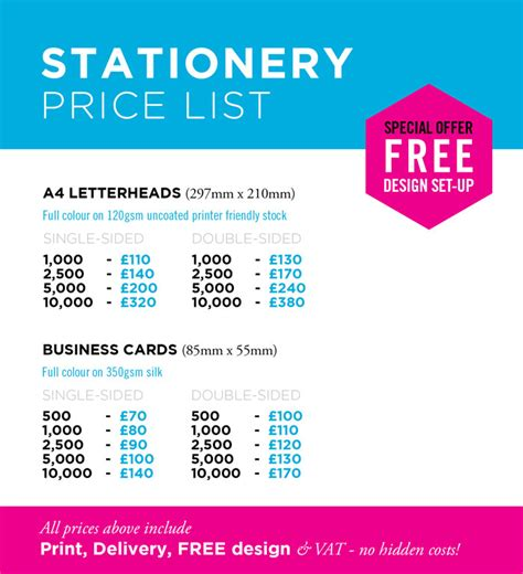 Business Letterhead Printing Services business letterhead prices 28 images compare prices on