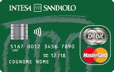 carta credito intesa next card mastercard intesa san paolo 2017