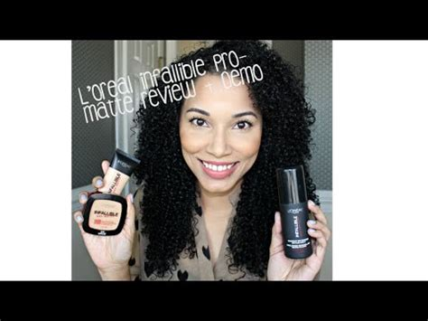 review demo l oreal evercurl l oreal infallible pro matte review demo