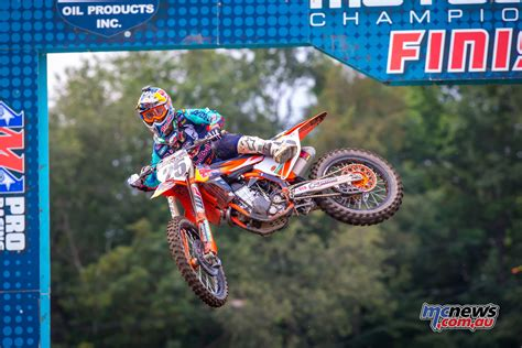 pro ama motocross musquin takes the double ama pro mx win in unadilla