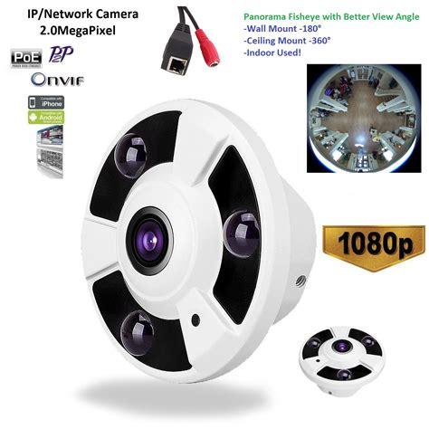 camara poe 1080p fisheye panoramic ip poe 360 degree wide