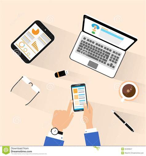 P C Online Shop. illustration of desktop computer screen