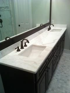 Cr Home Design K B Construction Resources calacatta gold marble vanity contemporary vanity tops