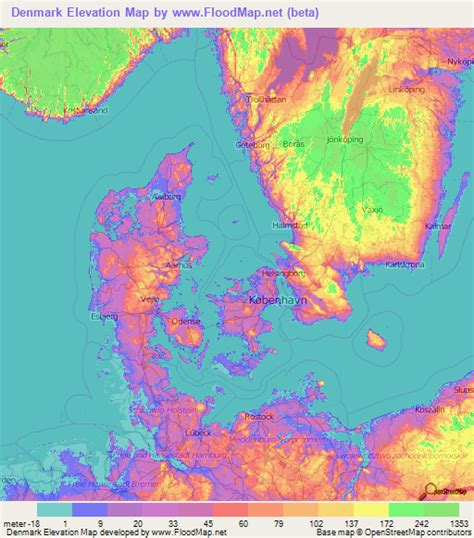 Finder Denmark Denmark Elevation And Elevation Maps Of Cities Topographic Map Contour
