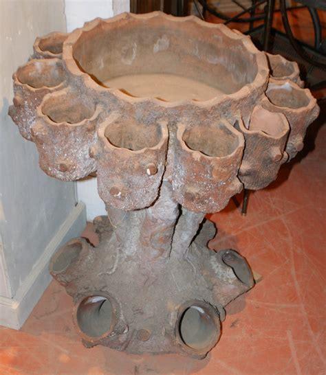 terracotta strawberry planter antique garden