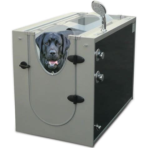 Portable Bathtub For Shower Stall by The Canine Shower Stall Hammacher Schlemmer