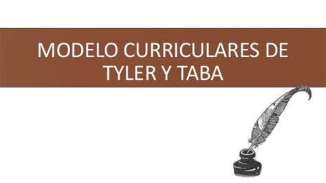 Modelo Curricular De Y Taba Modelo Curricular De