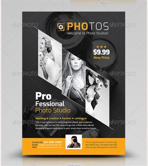 photography flyer template graphic design creative