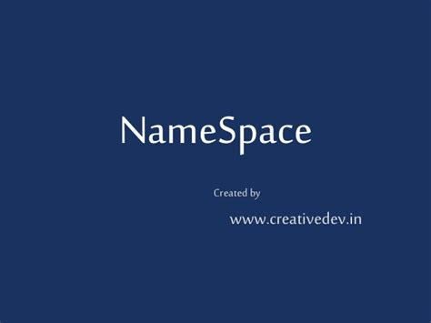 tutorial php namespace namespace php