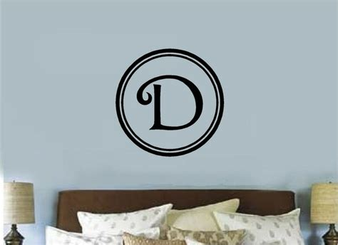 letter wall decals for rooms custom monogram letter vinyl decal sticker letter wall decor room bedroom ebay