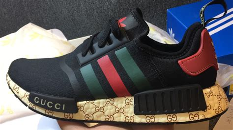 Harga Gucci Embroidered Sneakers gucci x adidas nmd custom mesh black real boost