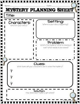Stories Of Mystery writing mystery stories notebook and activities tpt
