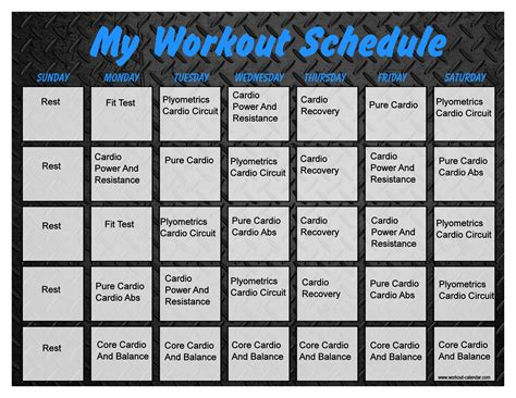 Monthly Workout Calendar Monthly Workout Calendar Template 2013 Search Results