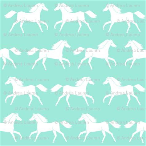 Girly Horse Wallpaper | horses running horses mint and white girly pastel horse