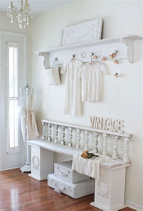 picture of cute and sweet shabby chic hallway decor ideas 13