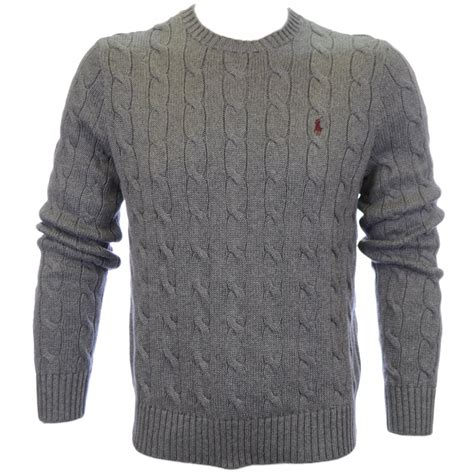 polo ralph cable knit jumper polo ralph cable knit jumper grey polo ralph