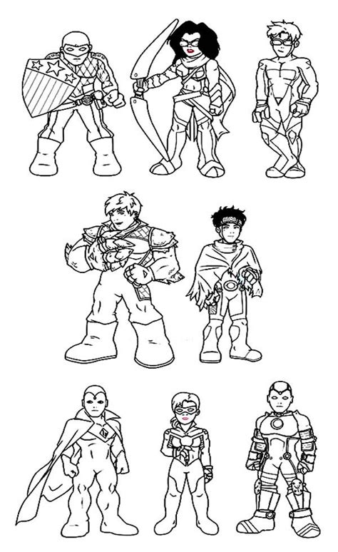 super hero squad coloring pages lineart super hero