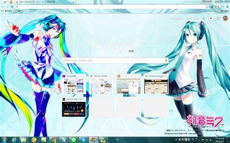 theme chrome hatsune miku vocaloid3 hatsune miku v3 theme chrome web store