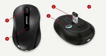 Microsoft Wireless Mobile Mouse 4000 microsoft wireless mobile mouse 4000 black d5d 00007 d5d