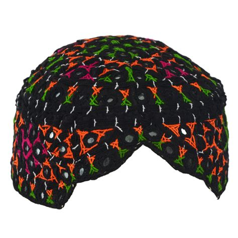 Topi 5in 1 sindhi cap shisha embroidered topi with multicolored web
