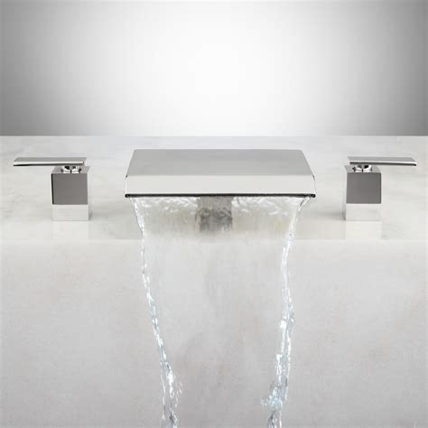 waterfall kitchen faucet soaking tub waterfall faucet