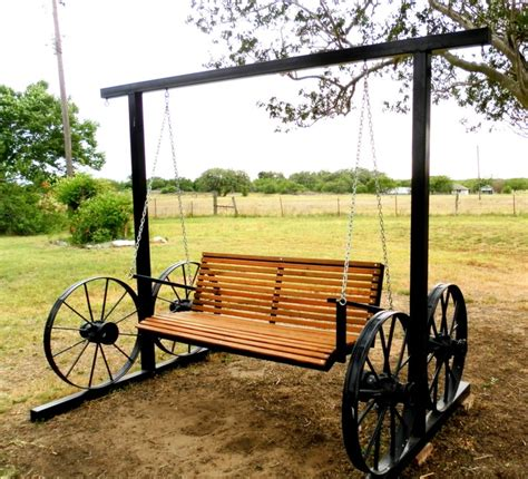 wagon wheel swing pin by kit emigh ream on yard art pinterest