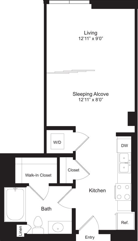 1 of 9 floor plan 3d 545 west 110th altitude apartments in west los angeles 5900 center dr