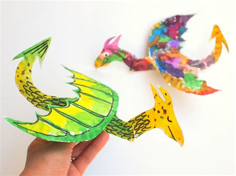 How To Make A Paper Flying Dinosaur - how to make colorful and flying paper plate dragons