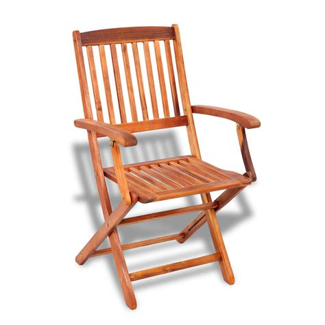 vidaxl wooden outdoor dining set 4 chairs 1 rectangle