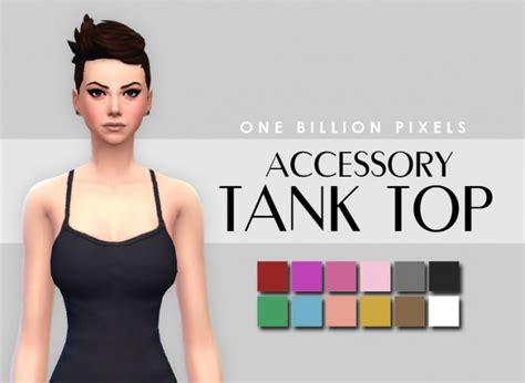 Makeup & Skin details & Tank top at One Billion Pixels » Sims 4 Updates