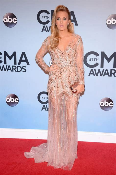 Who Wore Jovani Better Carrie Underwood Or Khloe by Carrie Underwood S Cma Dress See Sheer Gown