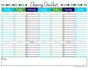 blank cleaning checklist printable my love for words