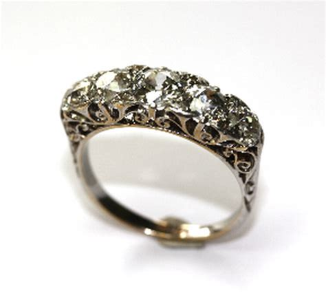 five antique betrothal ring jewellery