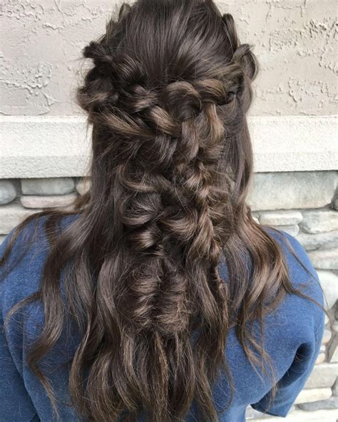 cute easy prom hairstyles  long hair