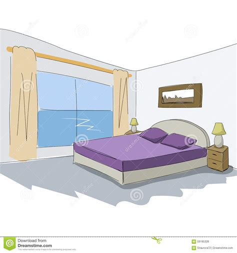 bedroom design vector graphic sketch an bedroom stock photography