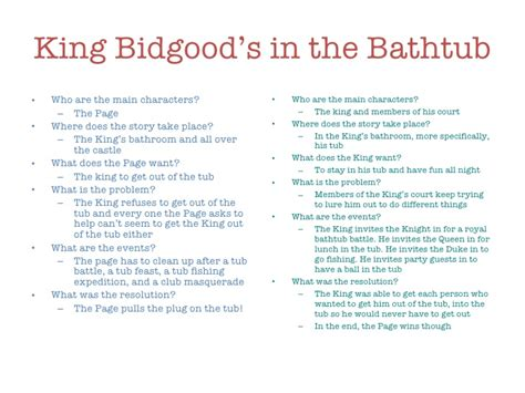 king bidgood in the bathtub narrative and expository text instruction