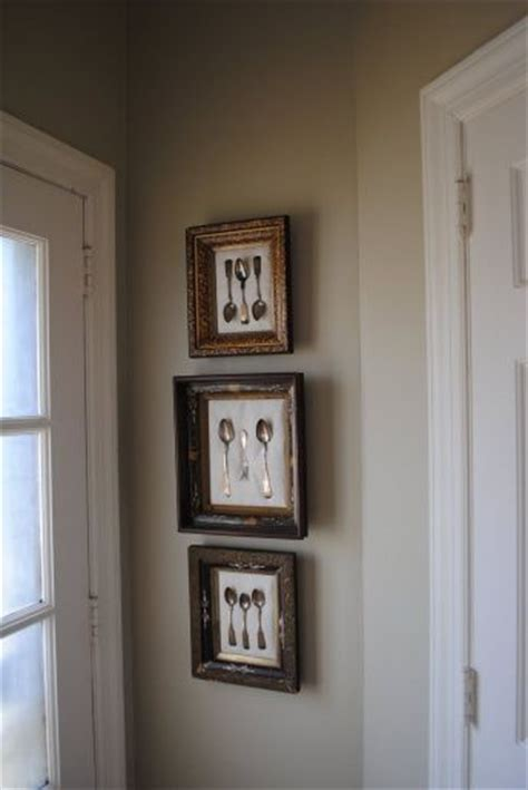dining room framed another idea for our dining room framed antique silverware home is where the is