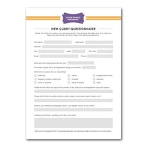 Squijoo Com Senior Client Questionnaire Template Awesome Photography Pinterest Marketing Senior Photography Contract Template