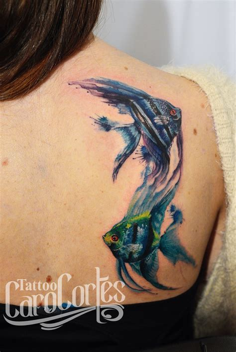colombian tattoos the idea of a watercolor angelfish this is
