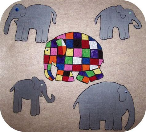Elmer Patchwork Elephant - elmer the patchwork elephant flannel story by