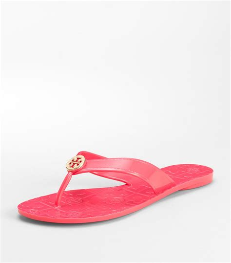 burch thora sandals burch jelly thora sandal in pink lyst