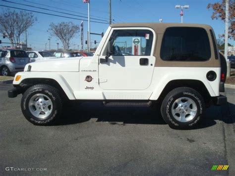 white jeep sahara stone white 2002 jeep wrangler sahara 4x4 exterior photo