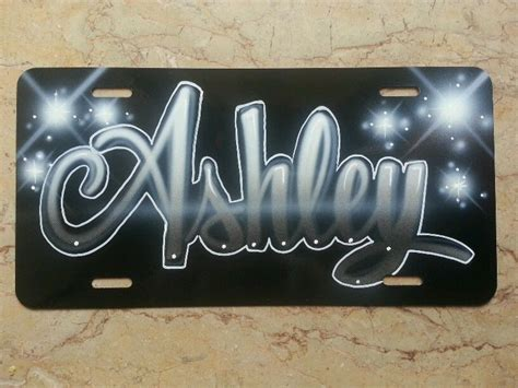 Car Names For Silver Cars by Custom License Plate Car Tag Personalized Name Airbrush